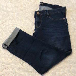 Express Capri Cropped Jean Legging Low Rise Size10